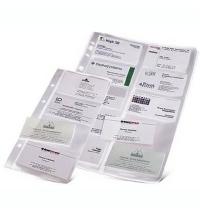 фото: Блок карманов для визитниц Durable на 200 визиток прозрачный, 10 шт/уп, 2389-19