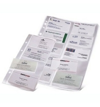 Блок карманов для визитниц Durable на 200 визиток прозрачный, 10 шт/уп, 2389-19