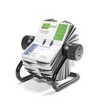 Картотека для визиток Durable Rotary Visifix на 400 карточек черная, 104х72мм, 2481-01