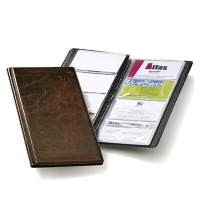 Визитница Durable Visifix на 96 визиток 253х115мм, ПВХ, коричневая, 2380-11