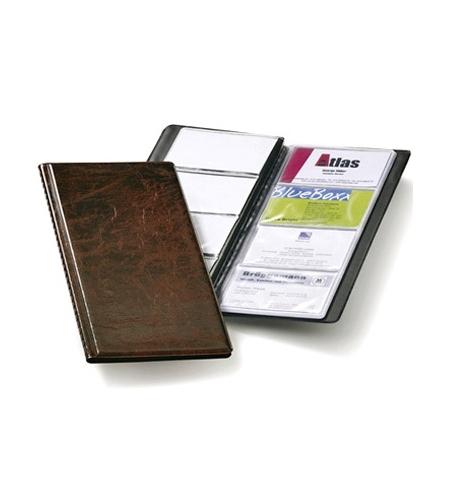 фото: Визитница Durable Visifix на 96 визиток 253х115мм, ПВХ, коричневая, 2380-11