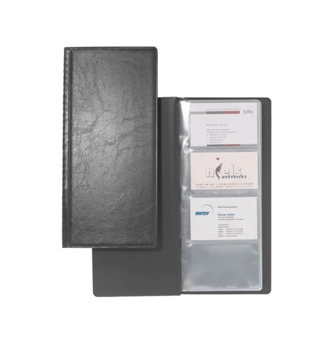 фото: Визитница Durable Visifix на 128 визиток черная, ПВХ, 2308-01