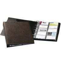 Визитница Durable Visifix на 400 визиток коричневая, 57х90мм, ПВХ, разделитель A-Z, 2384-11