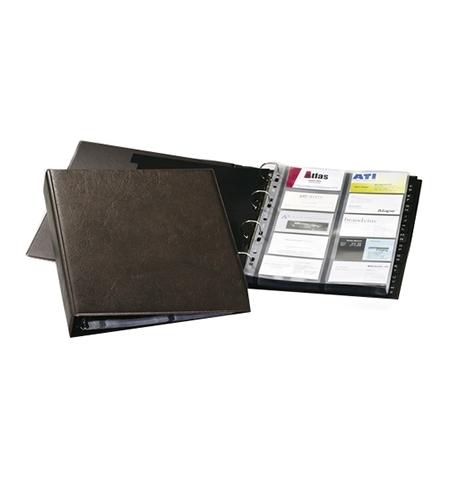 фото: Визитница Durable Visifix на 400 визиток коричневая, 57х90мм, ПВХ, разделитель A-Z, 2384-11