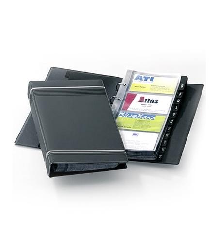 фото: Визитница Durable Visifix на 200 визиток ПВХ, антрацит, 2385-58