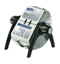 Картотека для визиток Durable Visifix Flip на 400 карточек 215х120х185мм, черно-серебристая, 2417-01