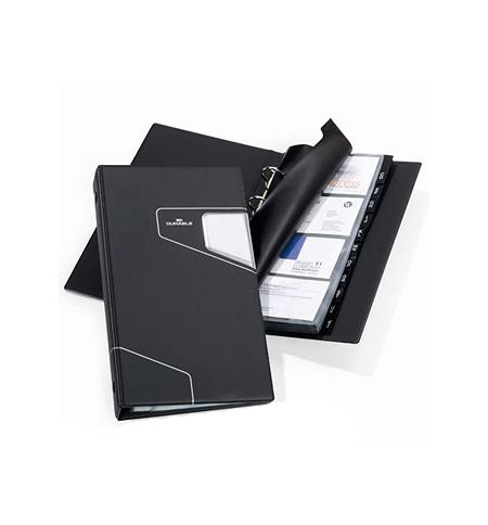 фото: Визитница Durable Visifix Pro на 200 визиток черная, ПВХ, 2461-58