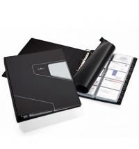 Визитница Durable Visifix Pro на 400 визиток черная, ПВХ, 2462-58