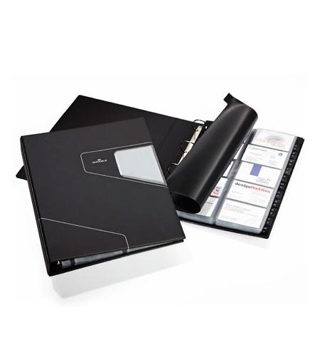фото: Визитница Durable Visifix Pro на 400 визиток черная, ПВХ, 2462-58