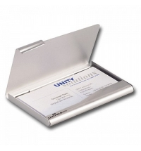 Визитница Durable Business Card Box на 20 визиток серебристая, 90х55мм, металл, 2415-23