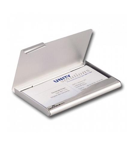 фото: Визитница Durable Business Card Box на 20 визиток серебристая, 90х55мм, металл, 2415-23