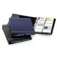 фото: Визитница Durable Visifix на 400 визиток синяя, 57х90мм, ПВХ, разделитель A-Z, 2388-07