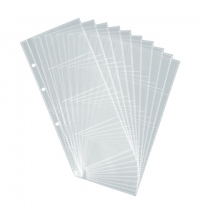 Блок карманов для визитниц Durable на 80 визиток прозрачный, 10 шт/уп, 2387-19