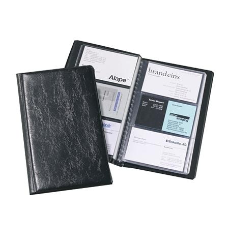 фото: Визитница Durable Visifix на 72 визитки черная, 195x115мм, ПВХ, 2400-01