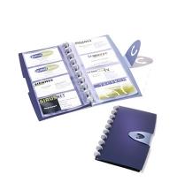 Визитница Durable Duralook Visifix на 96 визиток синяя, пластик, 2452-07