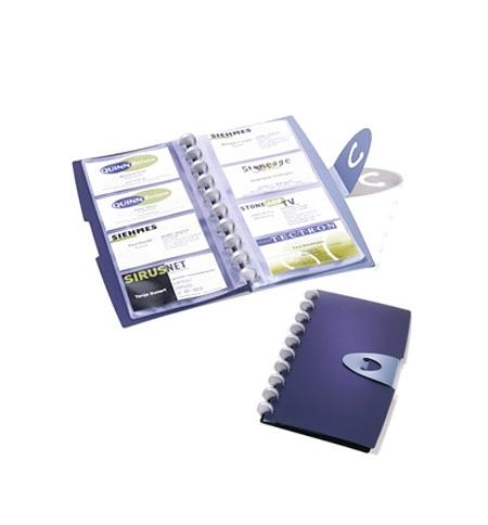 фото: Визитница Durable Duralook Visifix на 96 визиток синяя, пластик, 2452-07