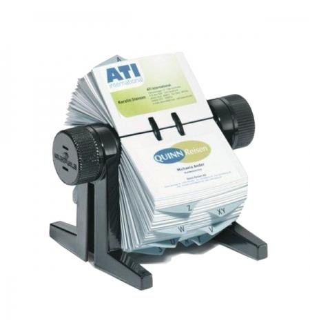 фото: Картотека для визиток Durable Visifix Cubo на 300 карточек черная, 215х120х185мм, 2447-01