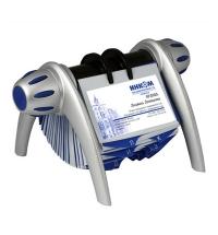 Картотека для визиток Durable Visifix Flip на 400 карточек 215х120х185мм, сине-серебристая, 2417-23