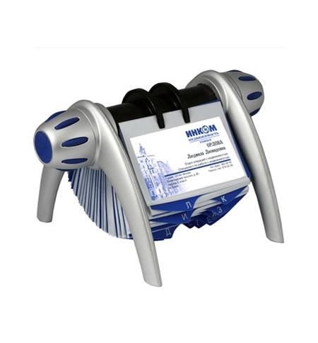 фото: Картотека для визиток Durable Visifix Flip на 400 карточек 215х120х185мм, сине-серебристая, 2417-23