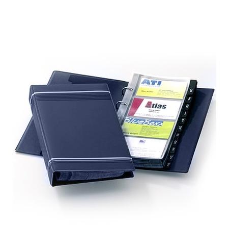 фото: Визитница Durable Visifix на 200 визиток ПВХ, синяя, 255х145мм, разделитель A-Z, 2385-07