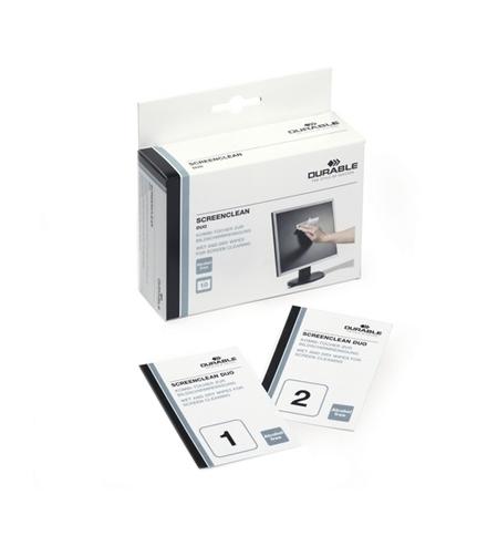 фото: Салфетки чистящие для мониторов Durable Screenclean Duo 10 влажных+10 сухих 5721-02