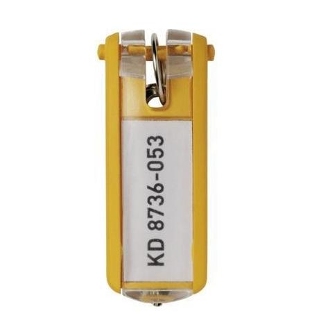 фото: Бирки для ключей Durable желтые 6шт, 1957-04