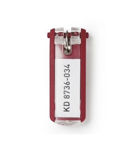 фото: Бирки для ключей Durable красные 6шт, 1957-03
