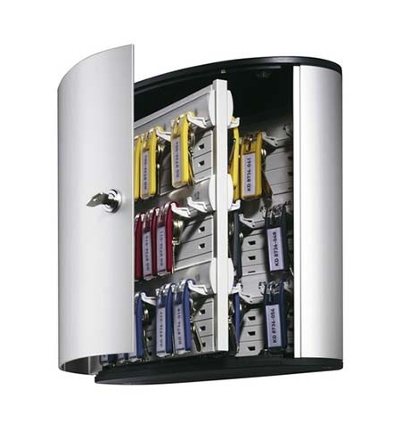 фото: Шкаф для ключей Durable на 18 ключей ключевой замок, 18 брелоков, 302х118х280мм, 1951-23