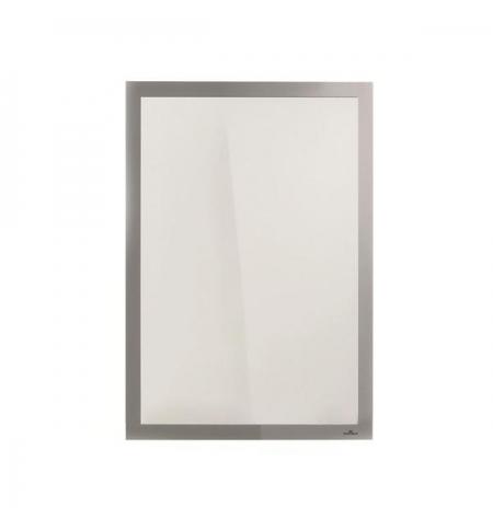 фото: Настенная магнитная рамка Durable Duraframe Poster Sun А2 серебристая, антистатическая, для стекла, 5004-23