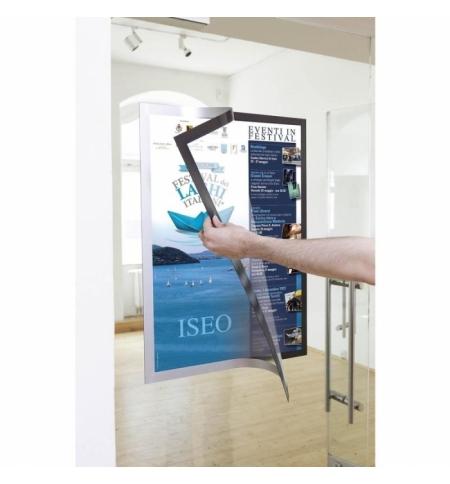 фото: Настенная магнитная рамка Durable Duraframe Poster А1 серебристая, самоклеющаяся, 4997-23