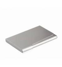 Визитница Durable Business Card Box на 20 визиток серебристая, 95х58мм, сталь хромированная, 2440-23