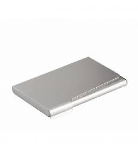 фото: Визитница Durable Business Card Box на 20 визиток серебристая, 95х58мм, сталь хромированная, 2440-23