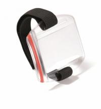 Бейдж наплечный Durable с зажимом прозрачный, 110х95мм, 10шт/уп
