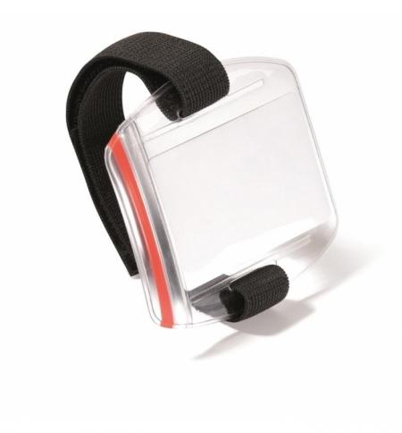 фото: Бейдж наплечный Durable с зажимом прозрачный, 110х95мм, 10шт/уп