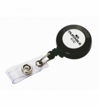Держатель-рулетка для бейджа Durable с клипом, темно-серый, 80см, на кнопке, 10 шт/уп, 8152-58