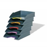 Лоток горизонтальный для бумаг Durable А4, ассорти, 5шт/уп, 7705-57
